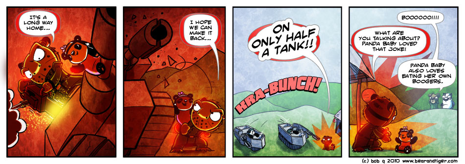 Bear and Tiger | A Webcomic By Bob » Archive » Action Puns